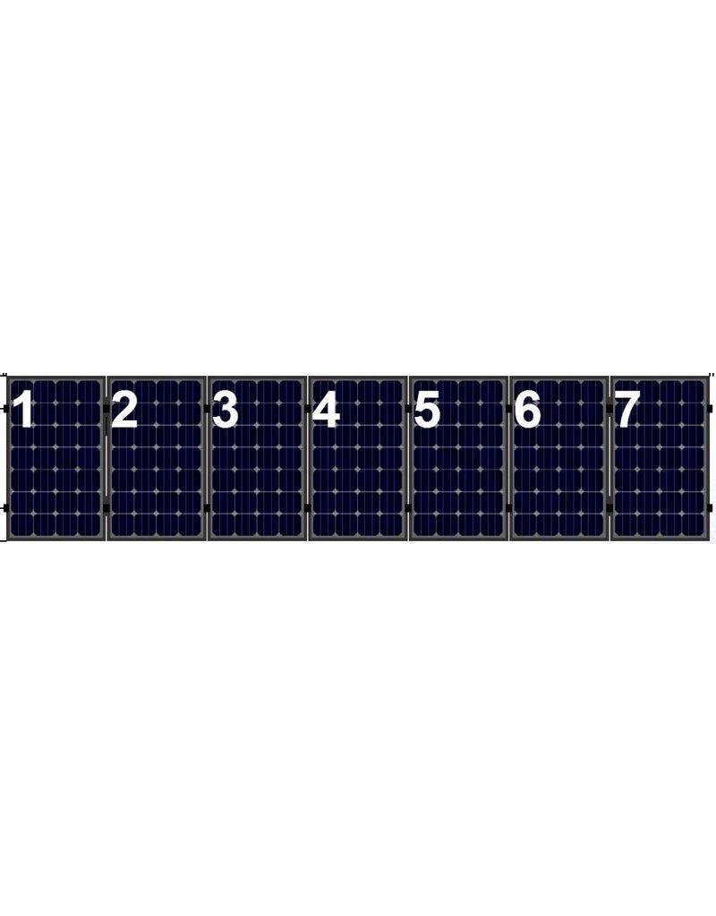Clickfit Clickfit Evo set 1 rij van 7 zonnepanelen portrait