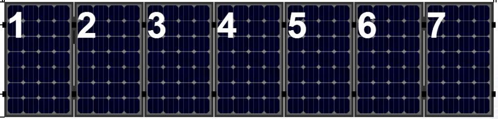 Clickfit Evo Clickfit Evo set 1 rij van 7 zonnepanelen portrait