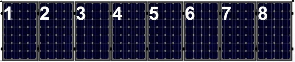 Clickfit Evo Clickfit Evo set 1 rij van 8 zonnepanelen portrait