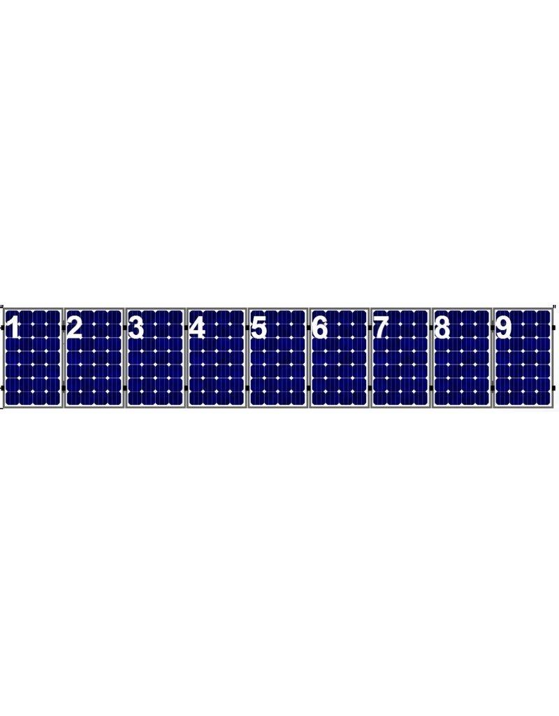 Clickfit Clickfit Evo set 1 rij van 9 zonnepanelen portrait