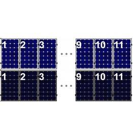 Clickfit Evo EVO Set 1 rij van 11 zonnepanelen portrait