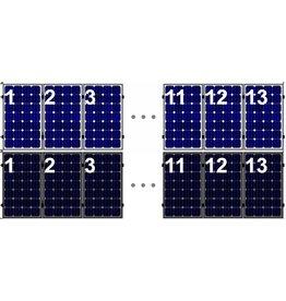 Clickfit EVO Set 1 rij van 13 zonnepanelen portrait