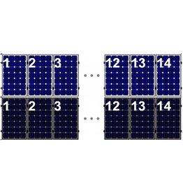 Clickfit Evo EVO Set 1 rij van 14 zonnepanelen portrait
