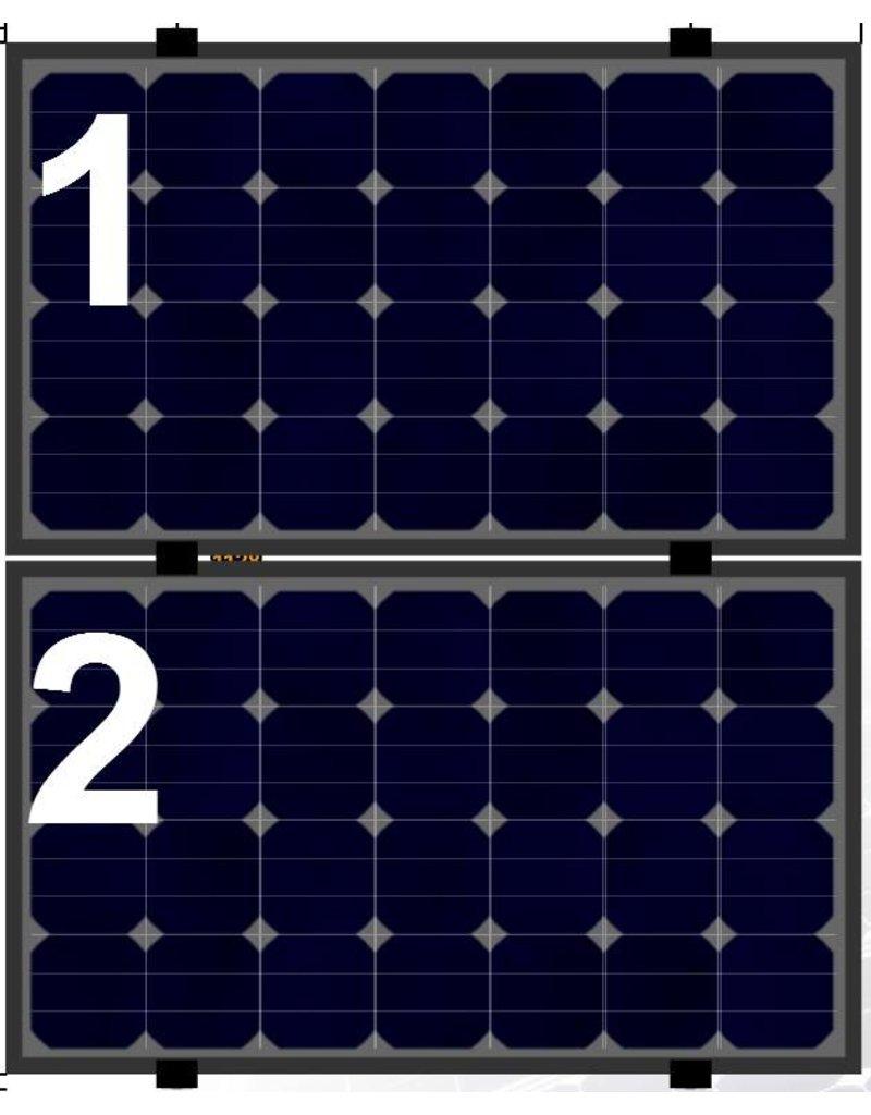 Clickfit Clickfit Evo set 1 kolom van 2 zonnepanelen landscape