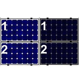 Clickfit Evo EVO Set 1 kolom van 2 zonnepanelen landscape