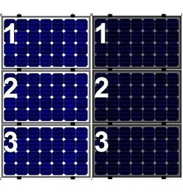 Clickfit Evo EVO Set 1 kolom van 3 zonnepanelen landscape