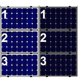 Clickfit EVO Set 1 kolom van 3 zonnepanelen landscape