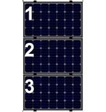 Clickfit Evo Clickfit Evo set 1 kolom van 3 zonnepanelen landscape