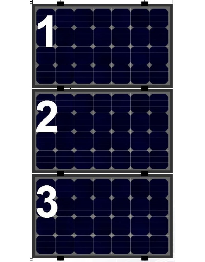 Clickfit Clickfit Evo set 1 kolom van 3 zonnepanelen landscape
