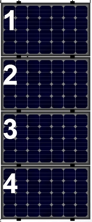 Clickfit Evo Clickfit Evo set 1 kolom van 4 zonnepanelen landscape