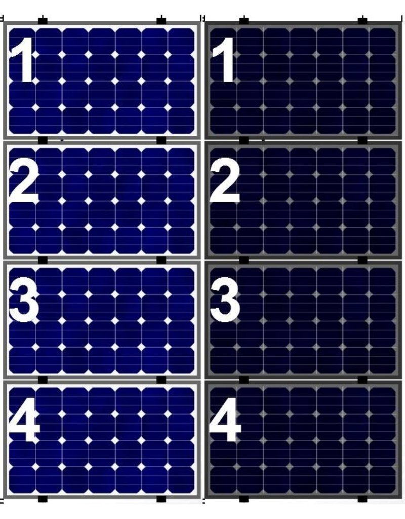 Clickfit Clickfit Evo set 1 kolom van 4 zonnepanelen landscape