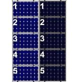 Clickfit Clickfit Evo set 1 kolom van 5 zonnepanelen landscape
