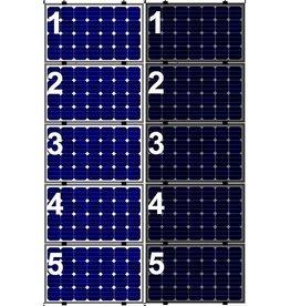 Clickfit EVO Set 1 kolom van 5 zonnepanelen landscape