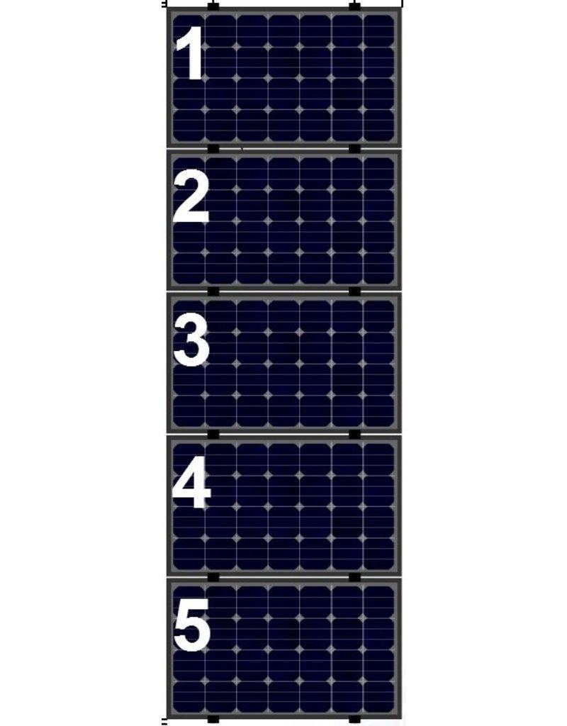 Clickfit Evo Clickfit Evo set 1 kolom van 5 zonnepanelen landscape