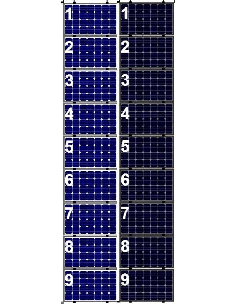 Clickfit Clickfit Evo set 1 kolom van 9 zonnepanelen landscape