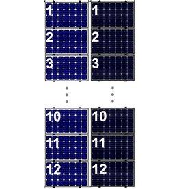 Clickfit Evo EVO Set 1 kolom van 12 zonnepanelen landscape