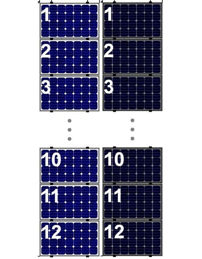 Clickfit Clickfit Evo set 1 kolom van 12 zonnepanelen landscape