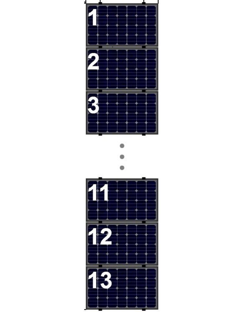 Clickfit Evo Clickfit Evo set 1 kolom van 13 zonnepanelen landscape