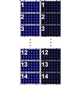 Clickfit EVO Set 1 kolom van 14 zonnepanelen landscape