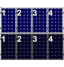 Clickfit Set 1 rij van 4 zonnepanelen portrait  staaldak