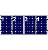 Clickfit Clickfit set 1 rij van 4 zonnepanelen portrait staaldak