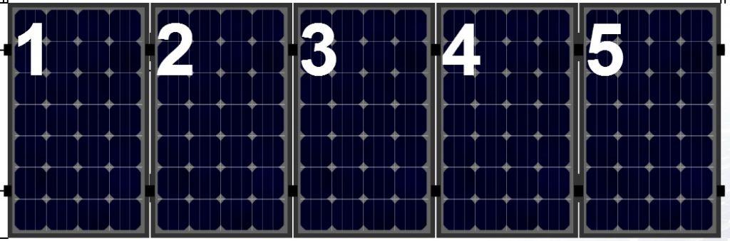 Clickfit Clickfit set 1 rij van 5 zonnepanelen portrait staaldak