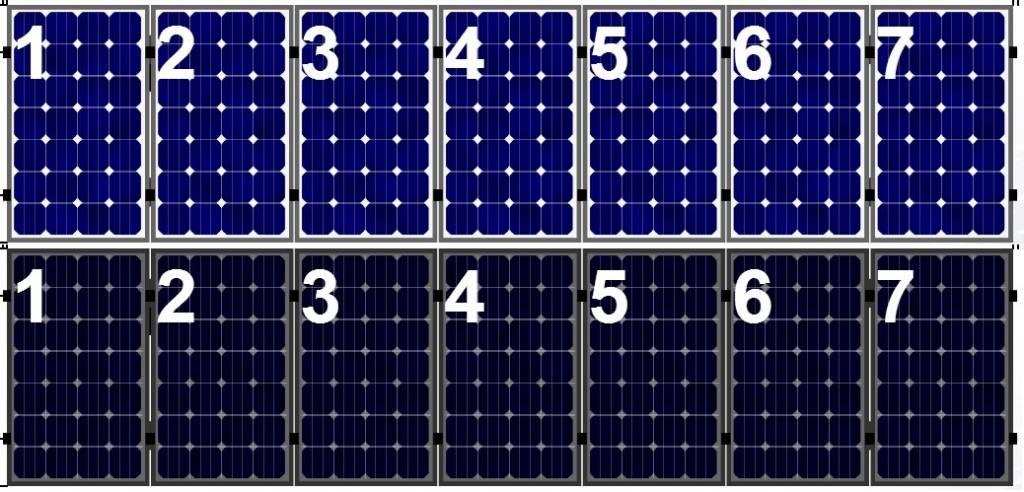 Clickfit Clickfit set 1 rij van 7 zonnepanelen portrait  staaldak