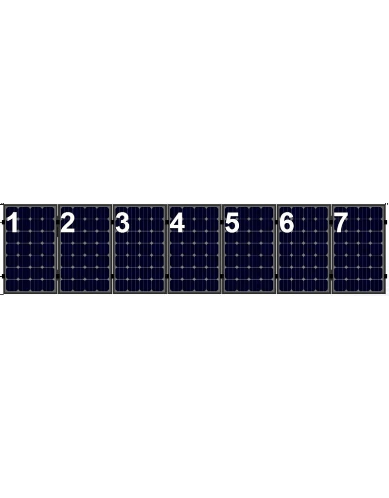 Clickfit Clickfit set 1 rij van 7 zonnepanelen portrait