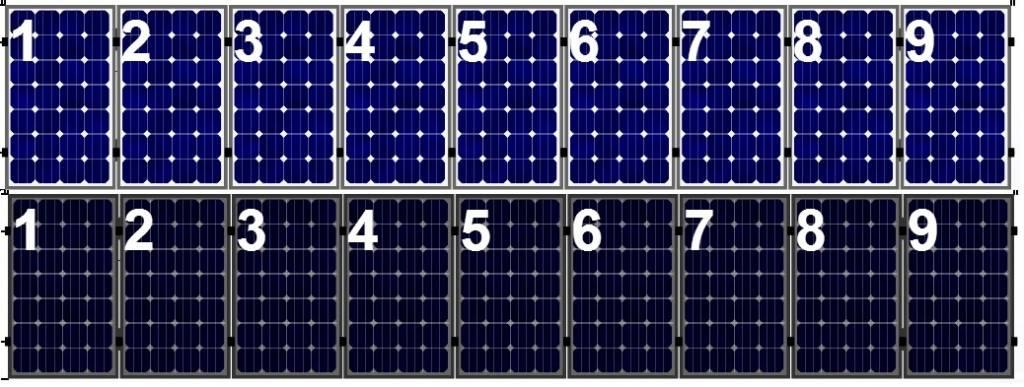 Clickfit Clickfit set 1 rij van 9 zonnepanelen portrait  staaldak