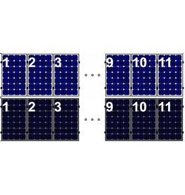 Clickfit Set 1 rij van 11 zonnepanelen portrait staaldak