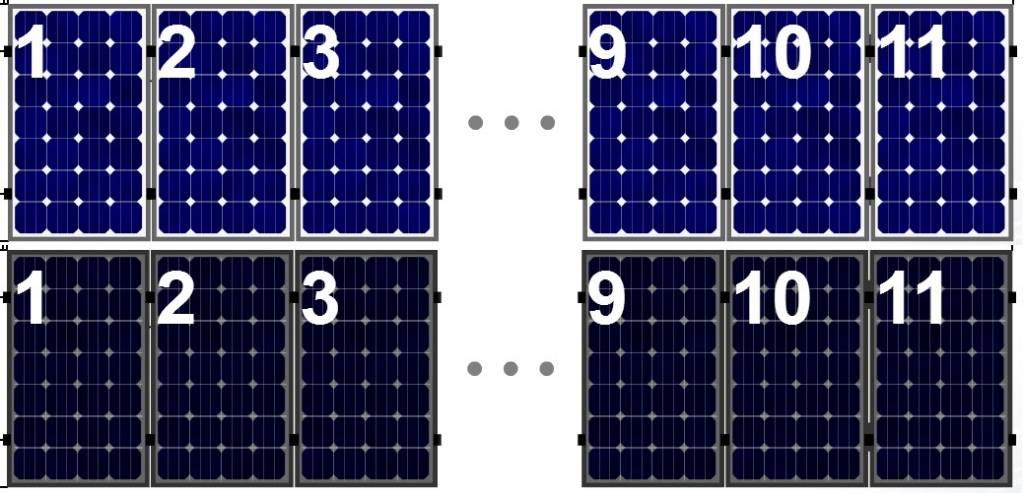 Clickfit Clickfit set 1 rij van 11 zonnepanelen portrait staaldak