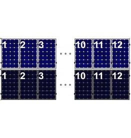Clickfit Set 1 rij van 12 zonnepanelen portrait staaldak