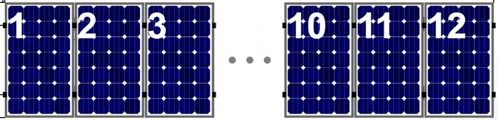 Clickfit Clickfit set 1 rij van 12 zonnepanelen portrait staaldak