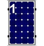 Clickfit Clickfit set 1 rij van 1 zonnepaneel portrait golfplaten dak