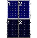 Clickfit Clickfit set 1 rij van 2 zonnepanelen portrait golfplaten dak