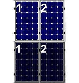 Clickfit Set 1 rij van 2 zonnepanelen portrait golfplaten dak