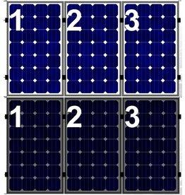 Clickfit Set 1 rij van 3 zonnepanelen portrait golfplaten dak