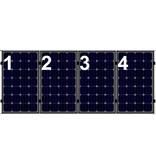 Clickfit Clickfit set 1 rij van 4 zonnepanelen portrait  golfplaten dak