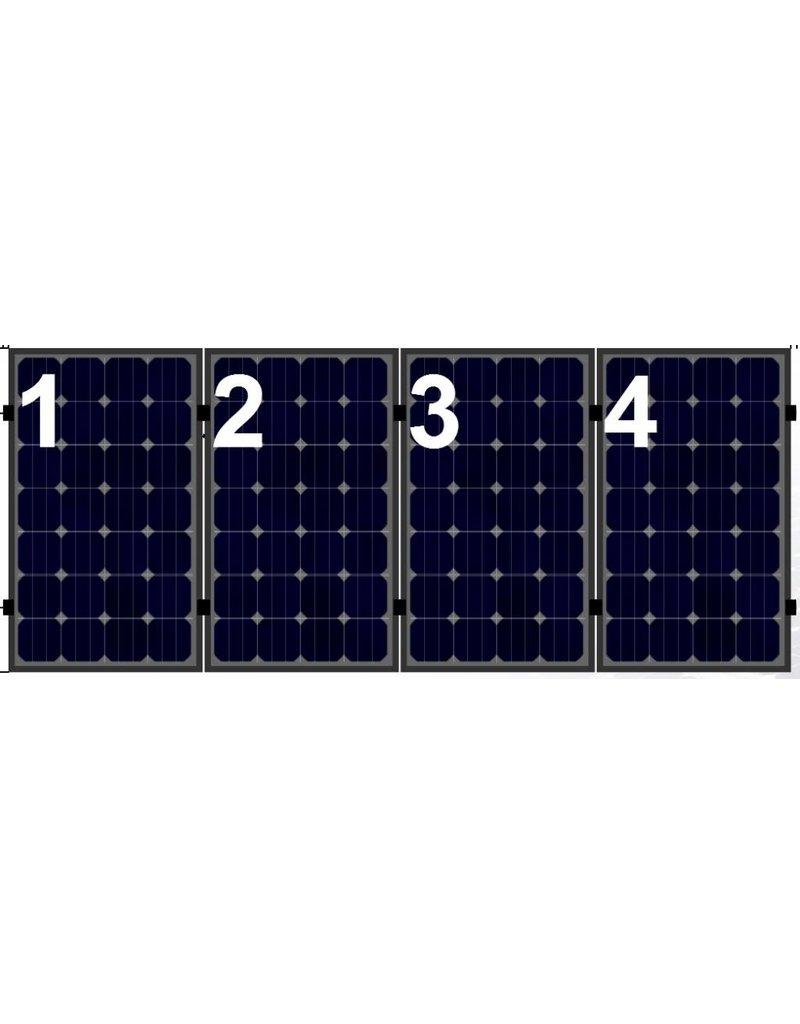 Clickfit Clickfit set 1 rij van 4 zonnepanelen portrait