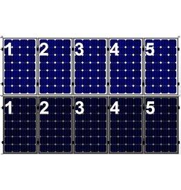 Clickfit Set 1 rij van 5 zonnepanelen portrait   golfplaten dak