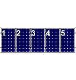 Clickfit Clickfit set 1 rij van 5 zonnepanelen portrait golfplaten dak