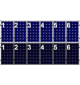 Clickfit Set 1 rij van 6 zonnepanelen portrait golfplaten dak