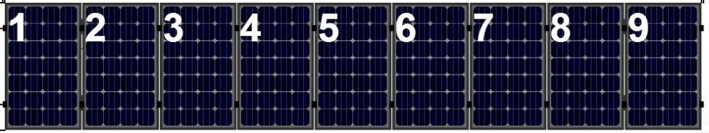 Clickfit Clickfit set 1 rij van 9  zonnepanelen portrait golfplaten dak
