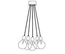 Het Lichtlab Hanglamp bundel 5 lichts 150cm
