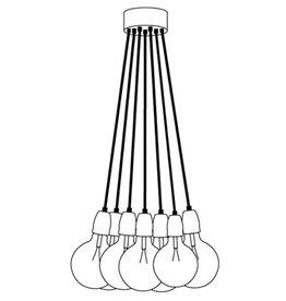 Het Lichtlab Hanglamp bundel 7 lichts 150cm