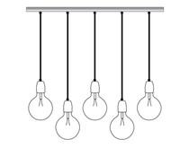 Het Lichtlab Balken mit 5 Bügeleisenkabeln 150cm