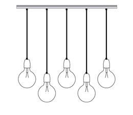 Het Lichtlab Hanglamp balk 5 lichts 150cm