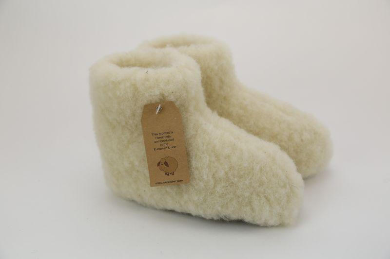 Enfants Woolwarmers Blanc - 34/35 Vr4ggGJ