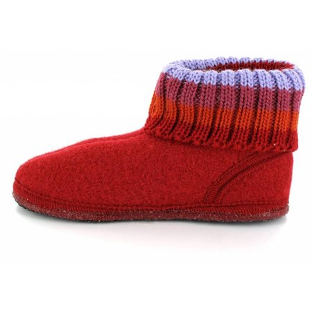 Haflinger Kinder sok pantoffel rood