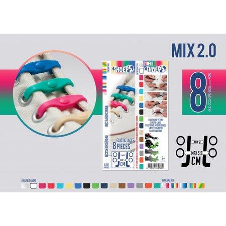 Shoeps Elastische veter mix 2.0 8 stuks